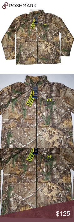 Under Armour Cold Gear Loose Fit Real Tree XtraGreen Full Zip Fleece Jacket-Camo