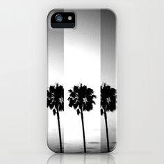 Vintage Palm Trees in Black & White iPhone Case by Derek Fleener - $35.00 *I want... but I'll wait* o_o