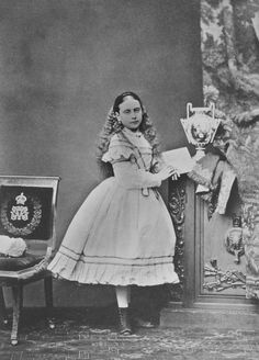 John Jabez Edwin Mayall - Princess Beatrice, March 1868 [in Portraits of Royal Children Princess Beatrice, Royal Princess, Little Princess, Queen Victoria Family, Princess Victoria, Victoria And Albert Children, Queen Victoria's Daughters, Victoria's Children, Royal Collection Trust