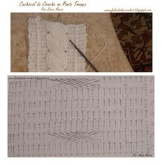 alice brans posted Crochet cable scarf, with chart to their -crochet ideas and tips- postboard via the Juxtapost bookmarklet. Crochet Cable Stitch, Tunisian Crochet, Thread Crochet, Crochet Stitches, Crochet Hooks, Crochet Diagram, Crochet Chart, Crochet Motif, Crochet Patterns