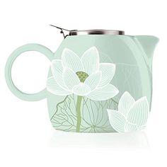 NEW Tea Forte Pugg Ceramic Teapot - Lotus. #Teapot #Collectible #Decor #Gift #gosstudio .★ We recommend Gift Shop: http://www.zazzle.com/vintagestylestudio ★