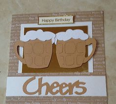 "#Handmade #happy birthday #cheers beer or lager glass tankard card 6"" square,  View more on the LINK: 	http://www.zeppy.io/product/gb/2/321314175820/"