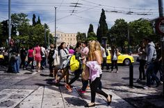 People of Syntagma square Athens, Street Photography, Greece, Street View, People, Greece Country, People Illustration