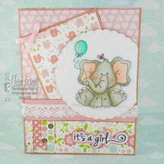 High Hopes Stamps Baby Elephant celebrates by CheriB Designs