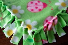"""A Different Twist to the """"knotted fleece blanket"""" I think this looks better than the knots!"""