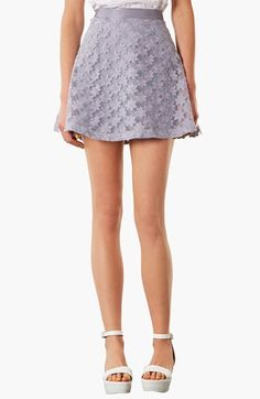 Topshop Floral Skater Skirt | Nordstrom  Skater Dress cute #casualoutfit #kelly751  #SkaterDress #Skater #Dress #topdress www.2dayslook.com