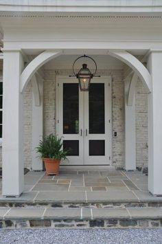 painted brick, lighting, architecture, very nice (narrow screened porch decorating)
