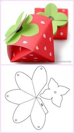 10 Beautiful DIY Patterns of Candy Gift Box geschenke basteln Candy Gift Box, Candy Gifts, Gift Boxes, Candy Boxes, Paper Crafts Origami, Paper Crafting, Paper Box Template, Box Templates, Diy Gift Box Template