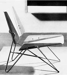 By Janine Abraham and Dirk Jan Rol, 1956, Chauffeuse in aluminium (Prototype), Salon des Artistes Décorateurs.