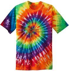 4fe0d88bf Items similar to Tie Dye T-shirt Artsy Hippie Love Joy Peace Rainbow Tie Dye  - Adult size small on Etsy