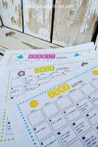 Free Summer Fun Activity Calendar Printable www.247moms.com #247moms