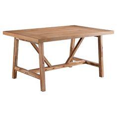 "classic farmhouse style table: Threshold™ Wheaton Farmhouse Trestle 60"" Dining Table"