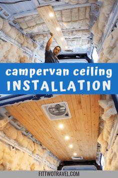 How to install wood plank ceiling in a diy campervan build Van Conversion Interior, Camper Van Conversion Diy, Van Interior, Camper Life, Diy Camper, Van Insulation, Luxury Campers, Diy Van Conversions, Campervan Rental