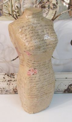 make a mannequin form from carton and paper mache | DIY ...