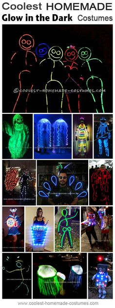 Coolest Glowing in the Dark great Halloween Costumes - Homemade Costume Contest