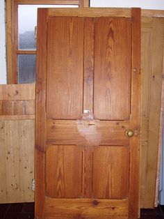 Salvaged solid pitch pine doors