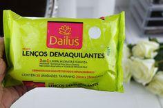 Testei: Lenços Demaquilantes 3 em 1 da Dailus!   Blog da Ana