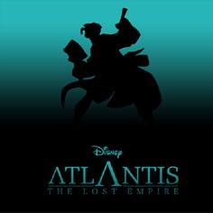 Disney Silhouette Posters: Atlantis The Lost Empire