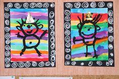 Kindergarten Art, Preschool Art, Diy Crafts For Kids, Art For Kids, Classroom Art Projects, Fathers Day Crafts, Arts And Crafts Storage, Art Plastique, Elementary Art