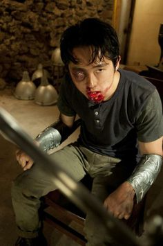 "Glenn (Steven Yeun) in a scene from ""The Walking Dead."" (Gene Page / AMC) Walking Dead Girl, Walking Dead Season, Fear The Walking Dead, Steven Yeun, Glenn Y Maggie, Madison Lintz, Glenn Rhee, Best Zombie, Dead To Me"