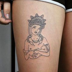 Artist:Tati Compton. Via Bust: Ladies Are Sticking It To The Man With The Resurgence Of This DIY Tattoo Style