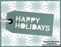 Handmade Christmas card using Stampin' Up! Paper Pumpkin Simply Snowflake Monthly Kit.  By Michele Reynolds, Inspiration Ink, http://inspirationink.typepad.com/inspiration-ink/2014/12/paper-pumpkin-simply-snowflake-kit-ideas.html.