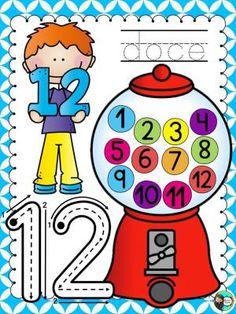 La maestra Mariana Tijerina nos regala estas imágenes para el trabajo con el número                                                   ...