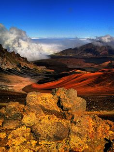 Haleakala Crater, Maui, Hawaii - So THIS is what it looks like!  We were there when it was totally covered in clouds.