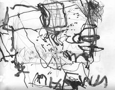 Painting Collage, Mark Making, Scribble, Abstract Expressionism, Zen, Contemporary, Black And White, Yarns, Art