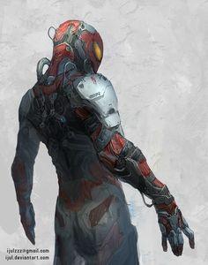 Oscorp's Spider Suit, Zulkarnaen Hasan Basri on ArtStation at http://www.artstation.com/artwork/oscorp-s-spider-suit