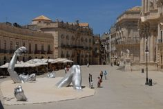 Siracusa's splendid Piazza Duomo in Sicily...will be doing burpees here July 2012