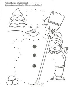 Dokresli sněhuláka Christmas Worksheets, Christmas Activities, Winter Activities, Snow Theme, Winter Theme, Winter Crafts For Kids, Winter Kids, Fish Activities, Activities For Kids