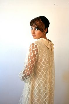 60s Wedding Dress / Vintage Lace 1960s Wedding Dress Mod Babydoll Ivory Cream. $145.00, via Etsy.