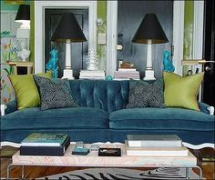 Blue And Pea Green Love Home Furniture Pinterest Living Rooms Room Teal Sofa