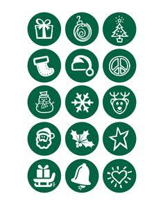 Christmas Spot Stickers - 60
