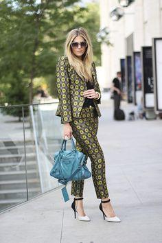 A Printed Suit - Devon Rachel