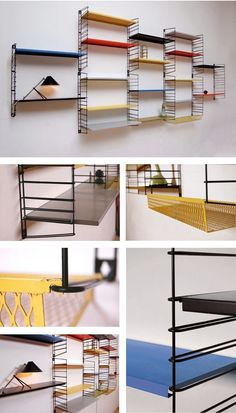 Original vintage Tomado shelving units