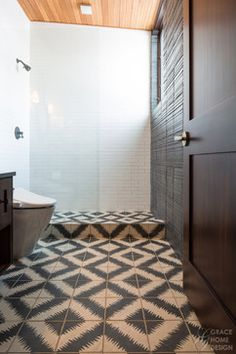 Modern Shower Area in Mountain Home - contemporary - bathroom - other metro - Grace Home Design, Inc.
