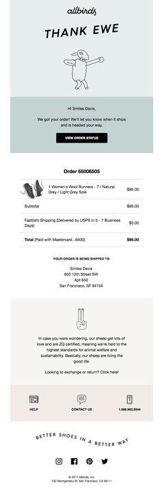 Order Confirmation Email Design Email design, Confirmation and - confirmation email template