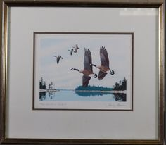 $79 signed serigraph by wildlife artist Stanley Stearns.