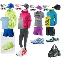 Gym/Running outfits I wish I was wealthy enough to own all these Nike clothes! :)