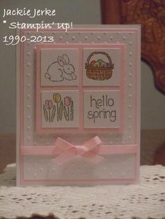 Easter card - pretty and pink