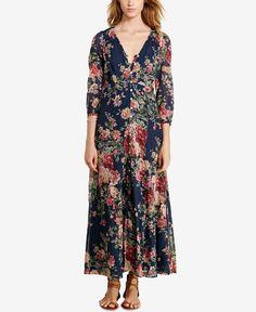 Denim & Supply Ralph Lauren Floral-Print Gauze Maxi Dress