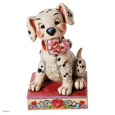 4026083 Lucky In Love (Lucky)- The Disney Traditions range of collectible figures by Jim Shore brings to life the timeless magic of Disney #jimshore #disney #collectable