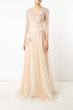 Tulle Evening Gown  Tulle Evening Gown Marchesa 29afcb51bbab