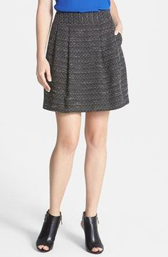 halogen pleat tweed a-line skirt blue - Google Search