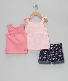 Take a look at this Pink Babydoll Top Set - Infant by Rugged Bear on #zulily today!