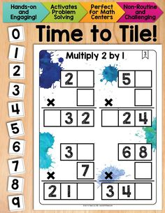 Multiplication and problem solving! Multiply 2-digit numbers by 1-digit numbers using place value knowledge and critical thinking.  Your students will love this math tile set!