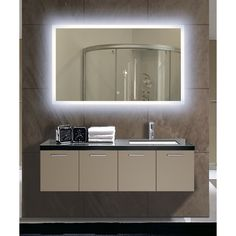 Rectangular Backlit Large Led Mirror Gorgeous Mirrorlighted Mirrorbacklit Bathroom