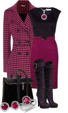 """""""Houndstooth"""" by snje2105 on Polyvore"""